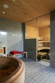 Saunagalleria I SUN SAUNA Oy I Ideoita saunaremonttiin, saunaideat Sauna Design, Spa Rooms, Saunas, Bathtub, Bathroom, House, Furniture, Interior Ideas, Pools