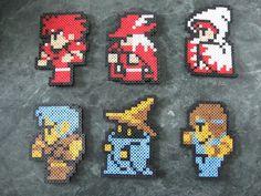 Final Fantasy sprites full set handmade in perler beads by PerlPop