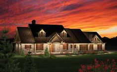 Country Style House Plans - 2016 Square Foot Home, 1 Story, 3 Bedroom and 2 3 Bath, 3 Garage Stalls by Monster House Plans - Plan 7-1049