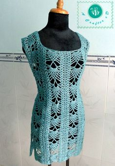 crochet pineapple tunic, crochet pineapple top, crochet cover top, crochet tunic, crochet tunic top free pattern, how to crochet a tunic top