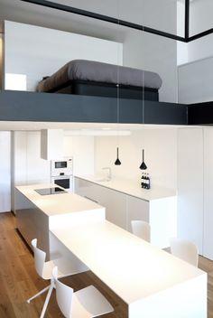 altillo dormitorio sobre apartamento loft