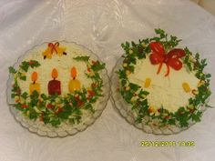 Christmas Centerpieces, Christmas Decorations, Roasted Eggplant Dip, Iran Food, Christmas Salad Recipes, Food Decoration, Foods To Eat, Cute Food, Appetizers For Party