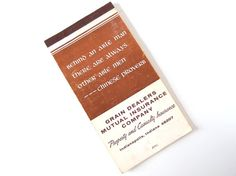 Vintage 1960's Memo Booklet Advertising Gimmick Notebook