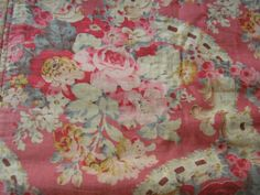 Gorgeous old bedspread they just don't make fabric like this anymore