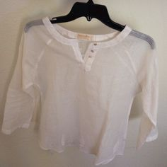 White cotton top White cotton top, full sleeve. In new condition, never worn. Not lined. Tops