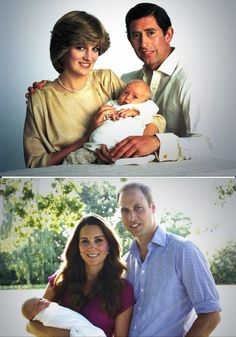 Prince William of Wales 1982. Prince George of Cambridge 2013.