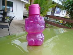 05955be10 Tupperware Brand New Hello Kitty Pink Eco Water Bottle of 14oz with a flip  top