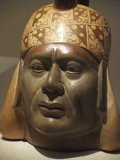 Portrait Vessel of a Ruler Moche Peru 100 BCE-500 CE Ceramic (2) | por mharrsch