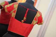 paroksha -square neck is the second most common neck design for blouses. You can play with the material, border and colours to make it more interesting.