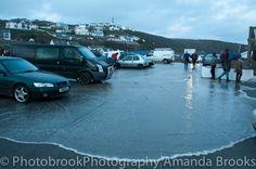 Flooding in Portreath Cornwall