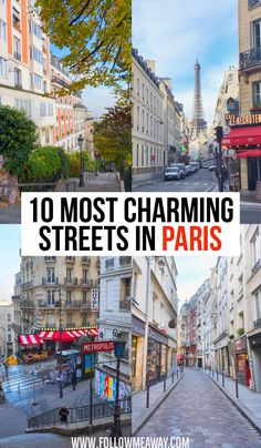 These are the top charming streets in Paris you must see! These secret Paris streets are off-the-beaten-path and we include a map to help you find them! Paris Travel Guide, Europe Travel Tips, Travel Trip, Travel City, European Travel, Best Vacation Destinations, Best Vacations, Vacation Ideas, Provence