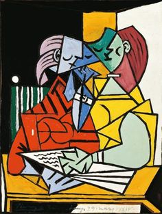 PABLO PICASSO. Dos mujeres leyendo, 1934