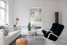 Stylish Scandinavian Interiors -  add a little extra drama to any room mix in just a bit of black.