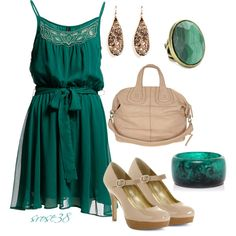 Green with envy by srose38 on Polyvore featuring Paige Novick, Alexis Bittar and Style & Co.