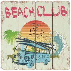 Clayre & Eef Vintage bord Surfbus Beach club http://www.versierendoejezo.nl/clayre-eef-vintage-bord-surfbus-beach-club.html