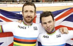 No #TDF for #Cav? NO! Go for it, Mark!! ~~> Bradley #Wiggins and Mark #Cavendish 2016 Madison World Champions