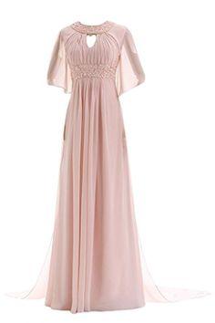 Rosa damen langarm spitze maxikleid lange abendkleid for Kleider fa r abschlussball