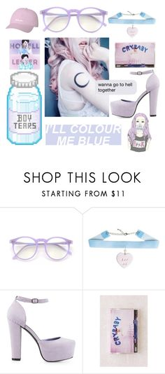 """""""pastel love"""" by cuddlingmuke ❤ liked on Polyvore featuring Wildfox, Nly Shoes and Urban Outfitters"""