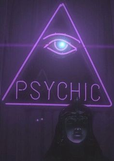 Psychic Girl Mannequin Face | Doll Head | Illumination Eye | Horus | Pyramid Neon Sign | Triangle | Medium | Divination | Open | Psychic Shop Sign | Light Up Egyptian Eye