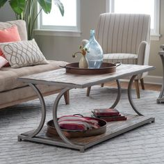 Belham Living Edison Reclaimed Wood Coffee Table