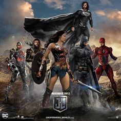 Justice league. Black costume superman
