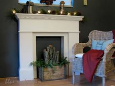 For when you don't have a real fireplace. Faux Mantle DIY by Blue Roof Cabin Faux Mantle, Faux Fireplace Mantels, Diy Mantel, Fireplace Surrounds, Fireplace Design, Mantles, Fireplace Ideas, Fireplace Hearth, Christmas Fireplace