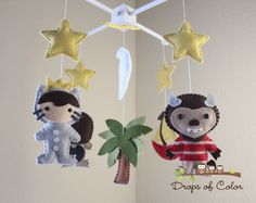 Baby Mobile - Baby Crib Mobile - Where the Wild Things Are Mobile - Nursery Monsters Mobile - Max Book Story Nursery by dropsofcolorshop on Etsy https://www.etsy.com/listing/166054090/baby-mobile-baby-crib-mobile-where-the