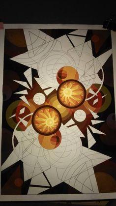 Trag trí Visual Art Lessons, Monochromatic Art, Composition Art, Polygon Art, Indian Art Paintings, Geometric Painting, Art Studies, Minimalist Art, Art Club