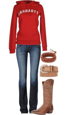 """Carhartt"" by hotcowboyfan ❤ liked on Polyvore"