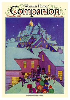Vintage Illustrations Christmas Night Children (Magazine Covers Christmas Art Prints) - These prints are made at our location in Seattle, WA. Christmas Cover, Christmas Night, Christmas Art, Vintage Christmas, Christmas Scenes, Xmas, Magazines For Kids, Vintage Magazines, Vintage Ads