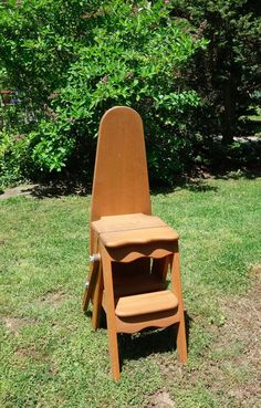 folding kitchen step stool essentials calphalon ironing board high chair ladder shelf furniture ...