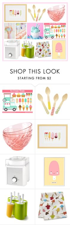 """""""Ice Cream"""" by my-style-xo ❤ liked on Polyvore featuring interior, interiors, interior design, home, home decor, interior decorating, Cotton Candy, Big Boss, A Little Lovely Company and Zoku"""