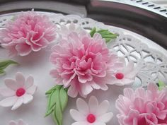 Sugarcraft flowers, pink carnation