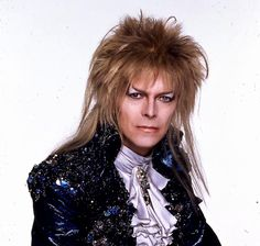 David Bowie featured in a rare publicity shot from Labyrinth