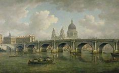Blackfriars Bridge and St Paul's, London - by William Marlow (1762). #PaintedLondon