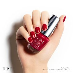 #MagalaWine, you're so fine! A serious sultry red for date night! Cute Nails, Pretty Nails, Fancy Nails, Opi Gel Nails, Nail Polishes, Gel Manicures, Manicure Tips, Red Nail Polish, Fall Nail Colors