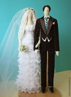 Tilda dolls handmade.  Fair Masters - handmade wedding couple.  Handmade.