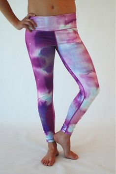 f0af9d64bf Chakra: Purple Rain Print Yoga Leggings, Yoga Pants, Purple Rain, Fitness  Fashion