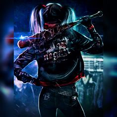 Harley Quinn is the woman version of Negan! Check out dc-editor's image on #PicsArt Create your own for free http://go.picsart.com/f1Fc/qSqJ332iZx