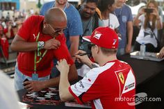 "Raikkonen:""Hold still or it's going to say Keke Rosberg!"""
