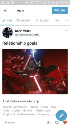 Okay, but honestly. Reylo is everything goals (except for the whole forbbiden on opposite sides of a war thing).