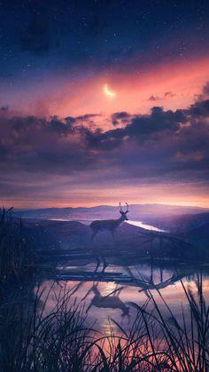 Twilight Deer 4K IPhone Wallpaper - IPhone Wallpapers