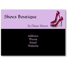 Shoes Boutique Business Card by elenaind