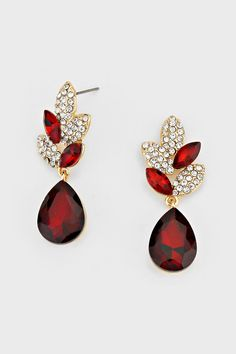 Crystal Delphi Earrings in Pomegranate