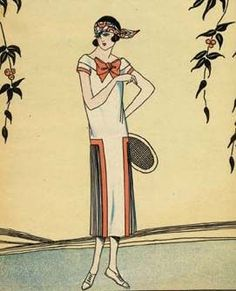 1920's fashion. Outfit for playing tennis?