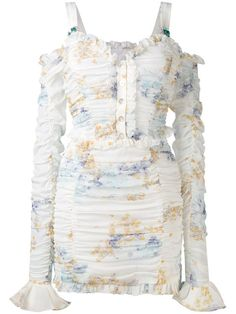 ALESSANDRA RICH Gathered Mini Dress. #alessandrarich #cloth #dress