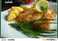Řízek v zakysané smetaně recept - TopRecepty.cz Baked Potato, Grains, Potatoes, Meat, Chicken, Baking, Ethnic Recipes, Cooking, Patisserie