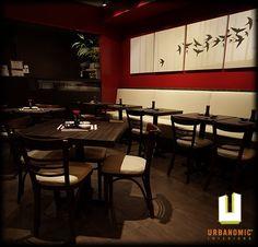 Sushi88 :: Restaurant Design :: Urbanomic Interiors by Urbanomic Interior Design , via Behance
