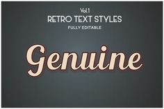 Vintage Retro Text Styles .Ai by lovepower on Creative Market