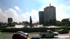 En la Glorieta Minerva convergen importantes vialidades de Guadalajara.